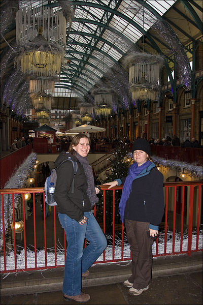 Keryn and Bridget at Covent Garden.