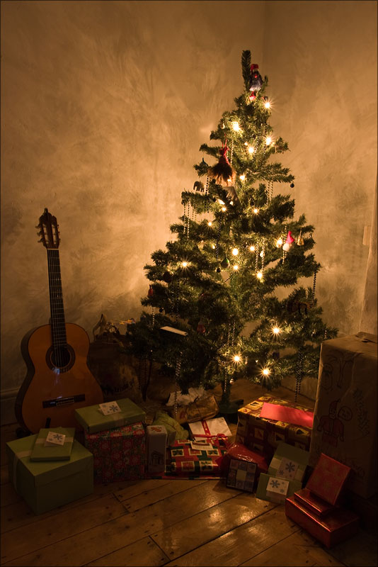 The Christmas Tree and presents.