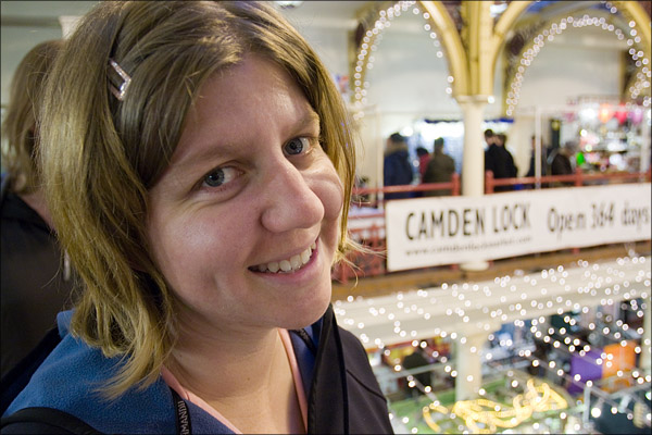 Bridget at Camden Lock Market.
