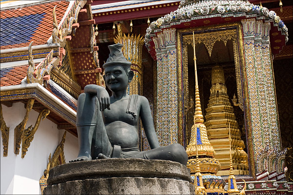 One of the Buddha at the Grand Palace.