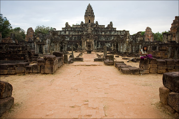 The Bakong Temple.