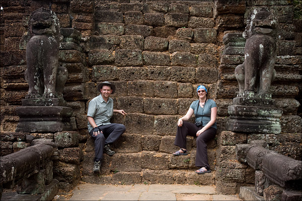 Posing at Preah Khan.