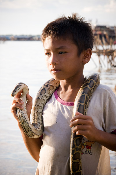 One of the snake kids.