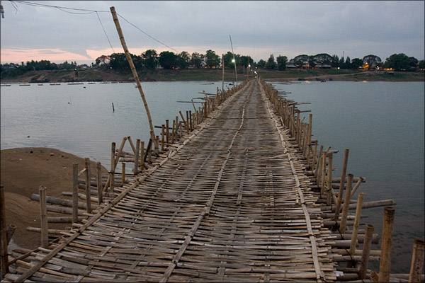 The bamboo bridge.