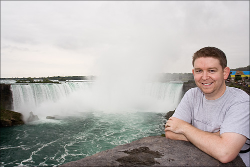 Brendon and the Horseshoe Fall at Niagara.