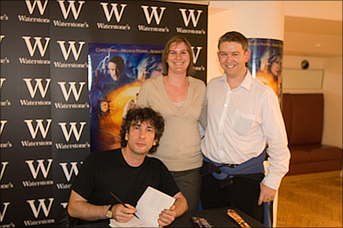 Neil Gaiman signing for Keryn and I.