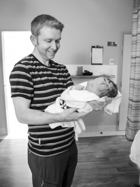 Holding Alayna for the first time.