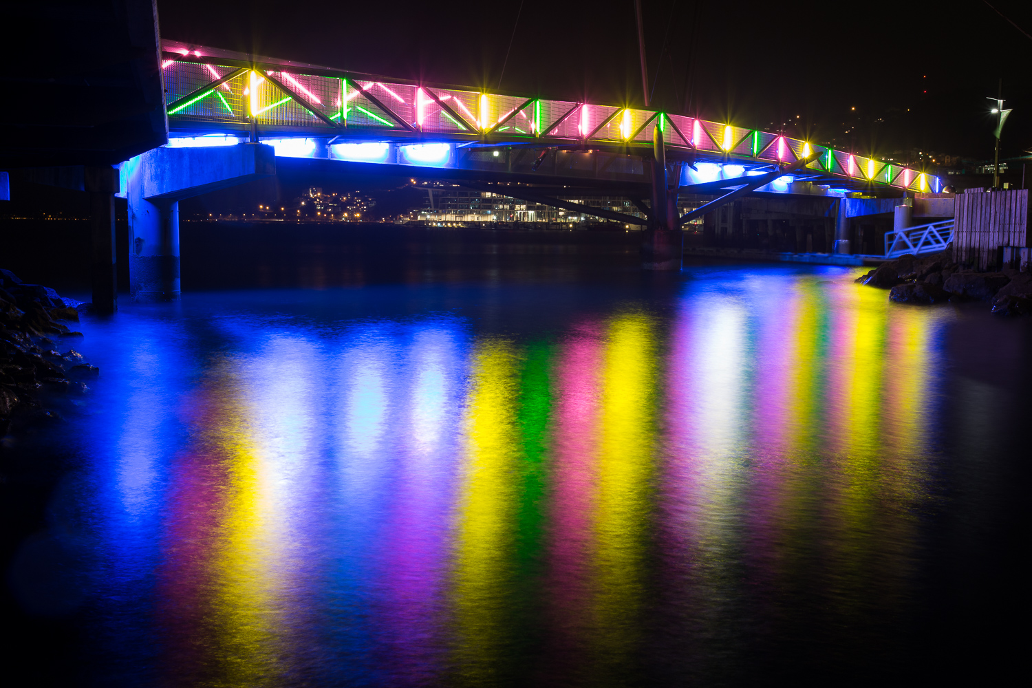 Bridge of Light reflections