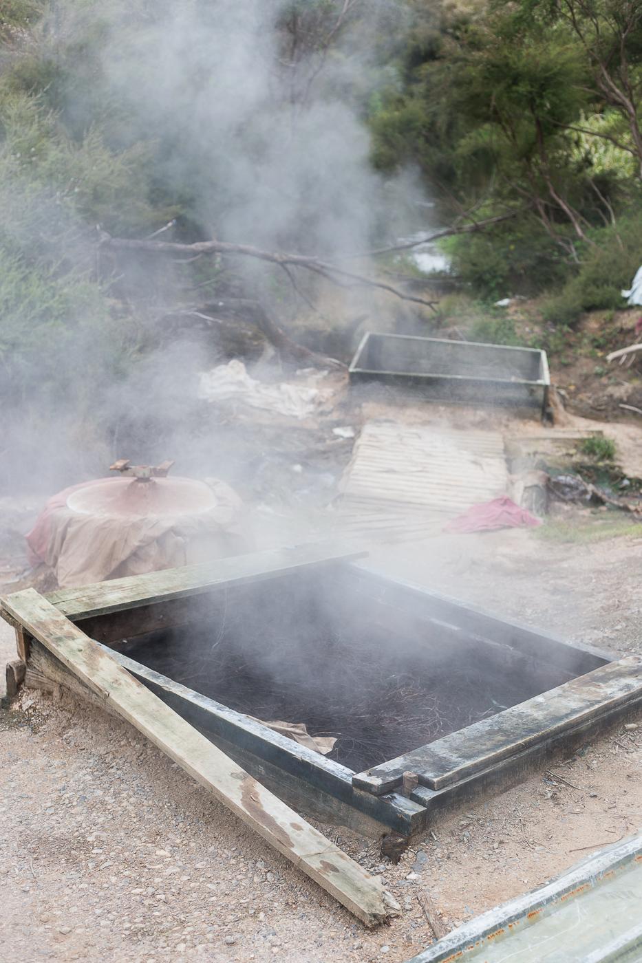 Naturally powered hangi pits