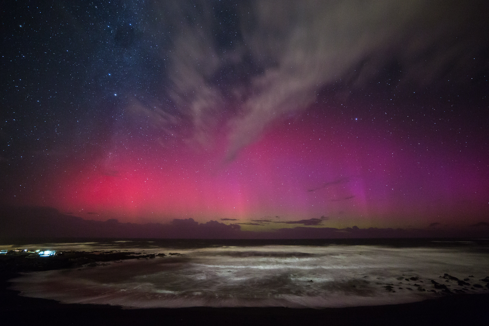 The St Patricks Day aurora at Red Rocks reserve