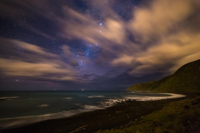 A few stars and a lot of cloud