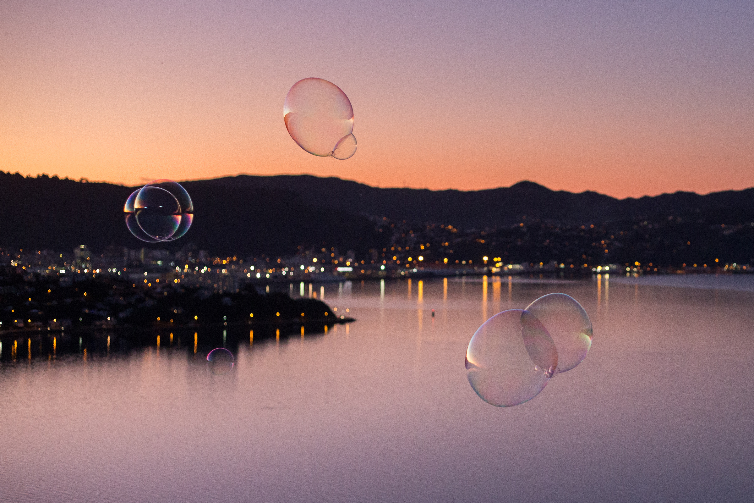 Bubbles over the harbour