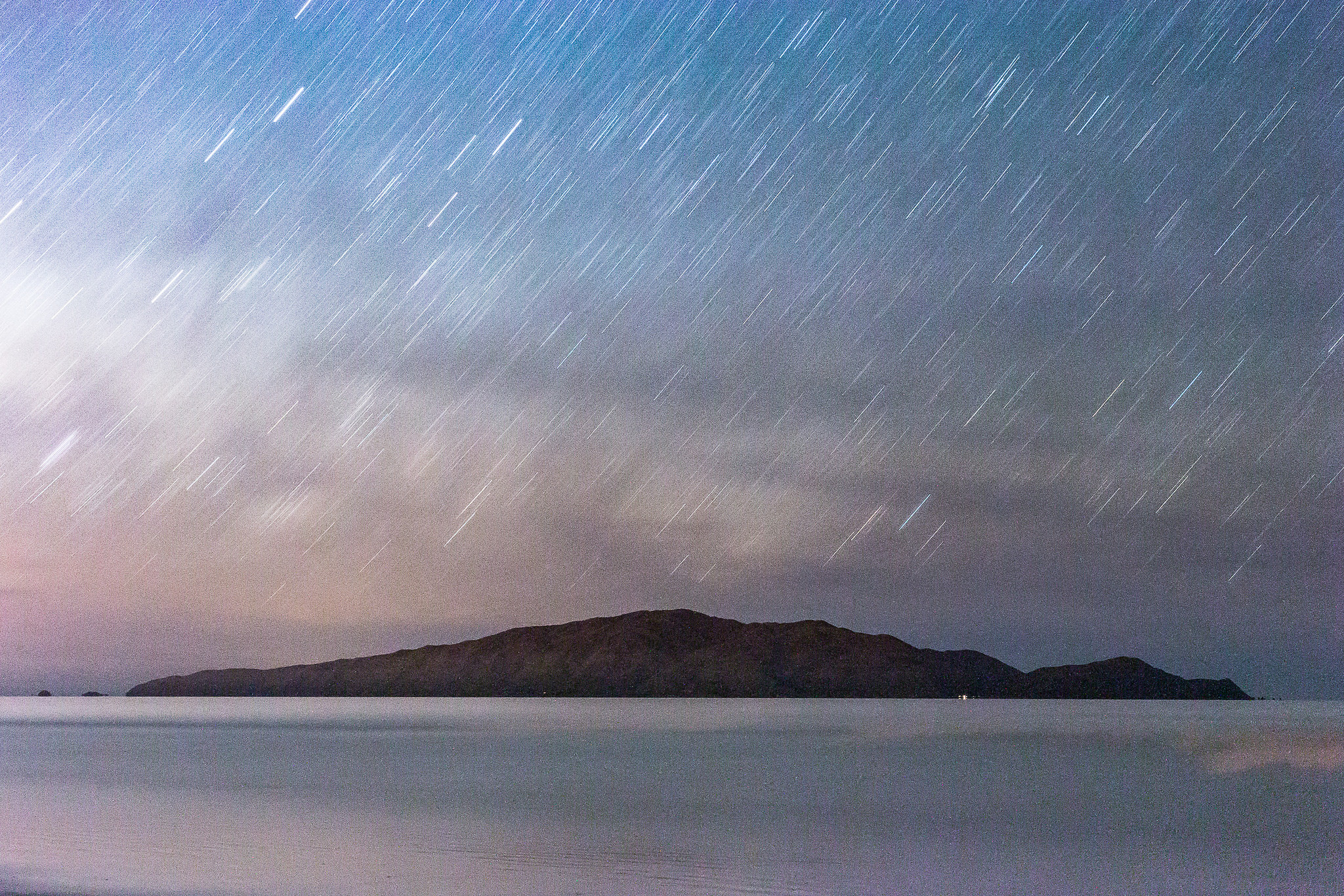 A longer exposure over Kapiti Island