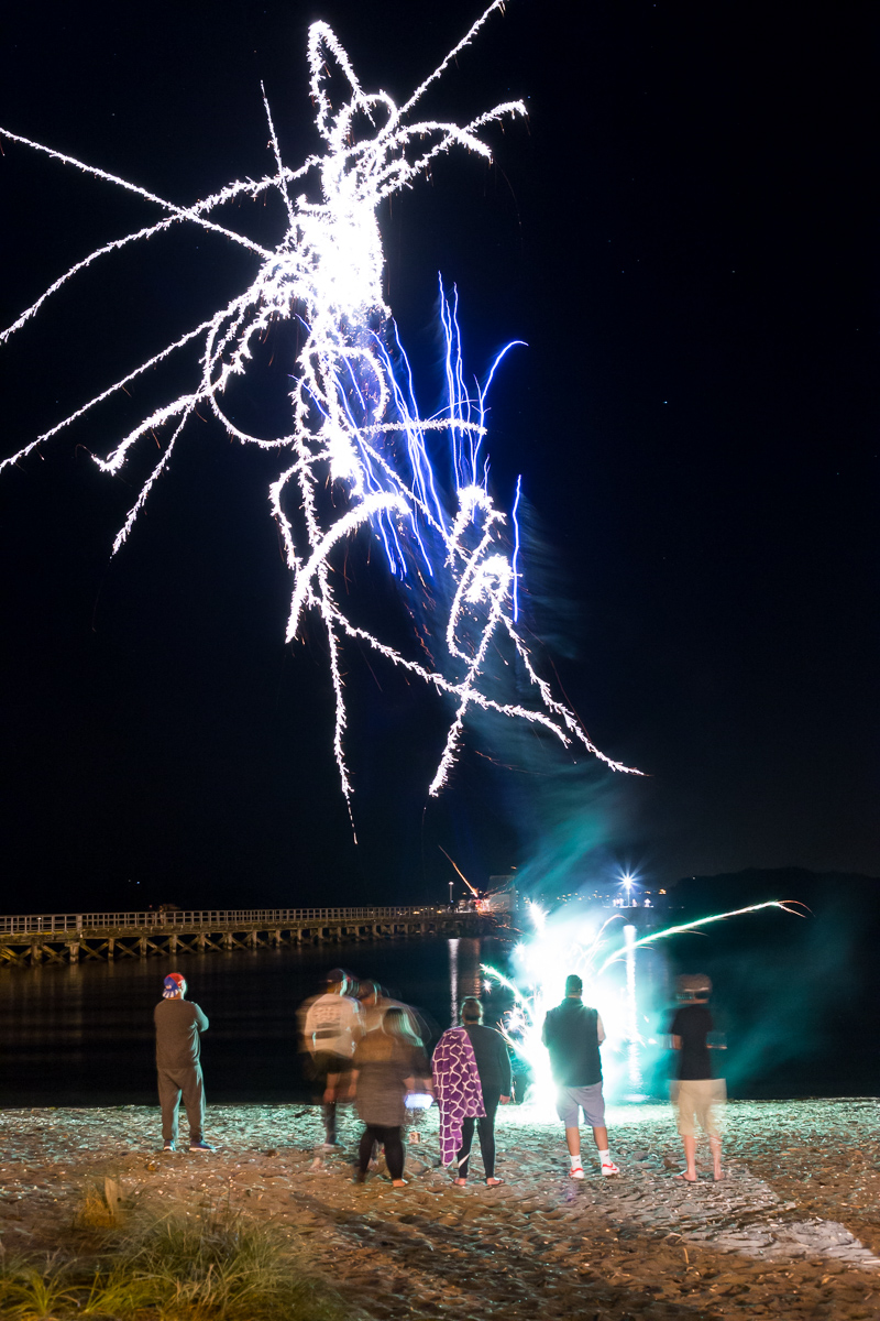 Messy fireworks