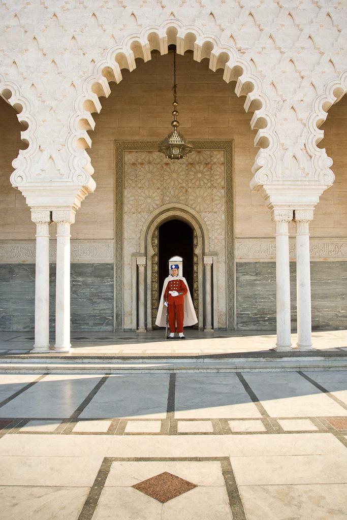 Guarding the Mohammed V Mausoleum