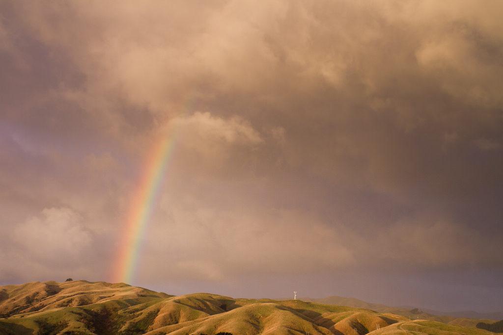 Rainbow over Pauatahanui Inlet