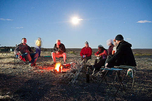 Traveller's Tale: Campfire under the moon