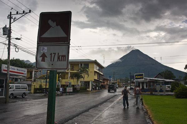Volcán Arenal rising over La Fortuna.