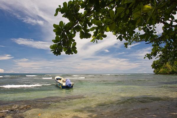 A beautiful Caribbean bay.