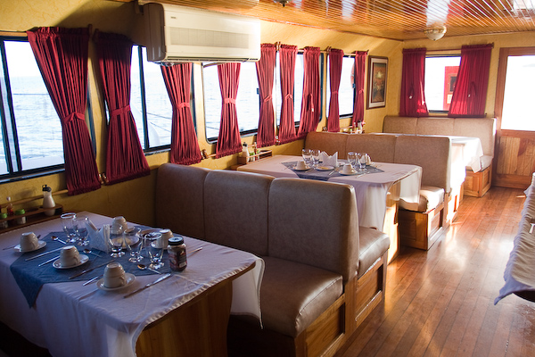 The dining area on the Adventurer IV.