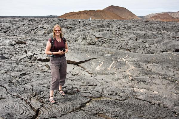 Keryn on the lava.