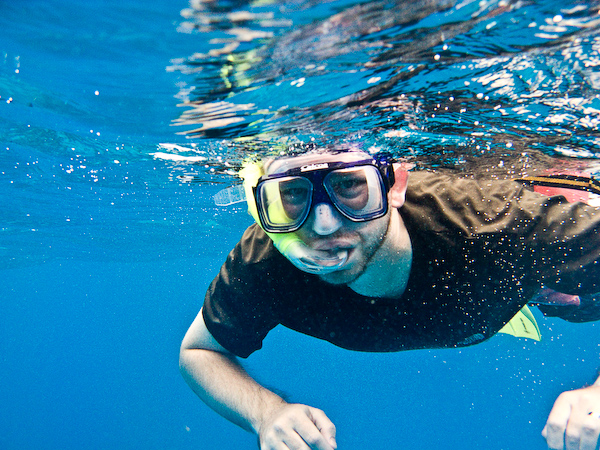 Brendon underwater.