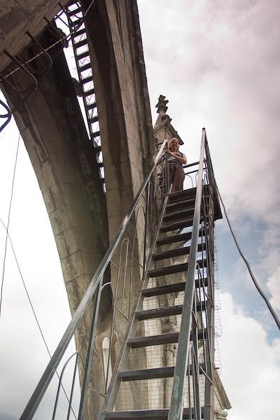 Keryn on the final ladders