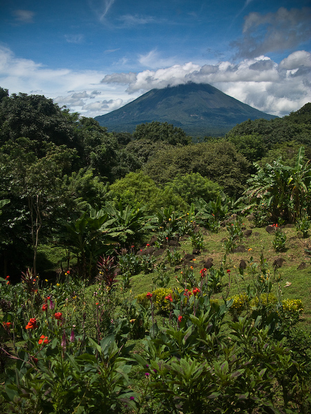 Volcán Maderas and the lush vegetation of Ometepe.