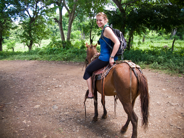 Cecylia on the horse ride.