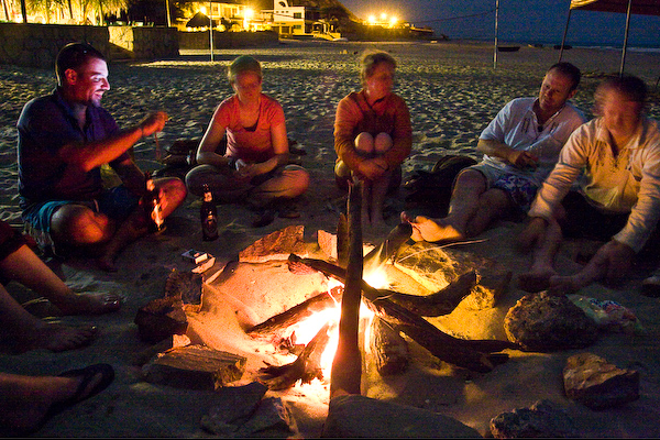 Around the campfire at Punta Sal