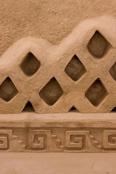 Wall detail at Chan Chan