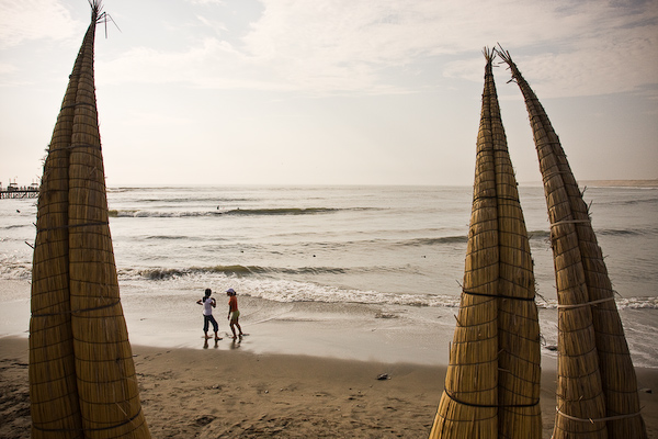 Late evening on the Huanchaco beach