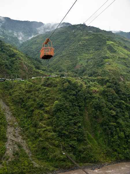 One of the cable cars