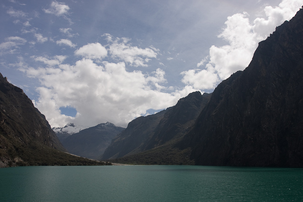 One of the lakes as we drove up to our starting point