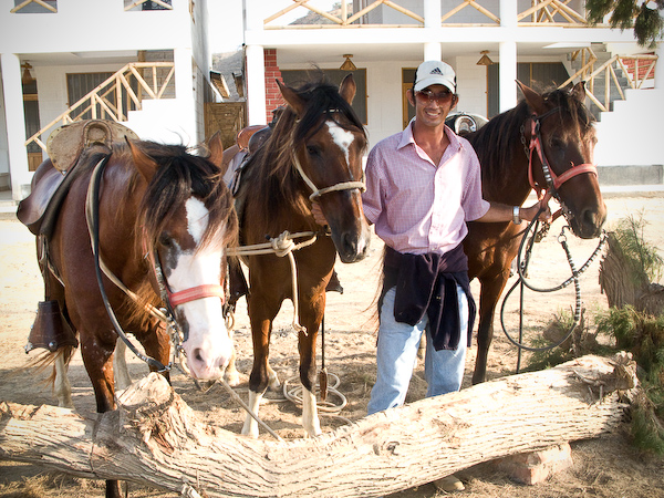 Victor with his horses