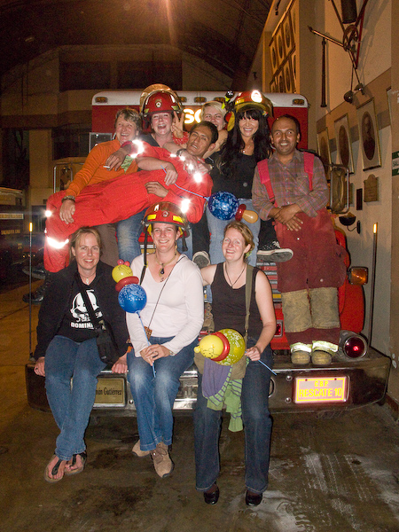 A photo with some local firemen