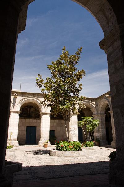 A courtyard at the Monasterio de Santa Catalina