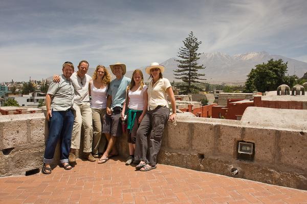 The Monastery explorers: Brendon, Sean, Ellie, Albert, Vicki and Keryn