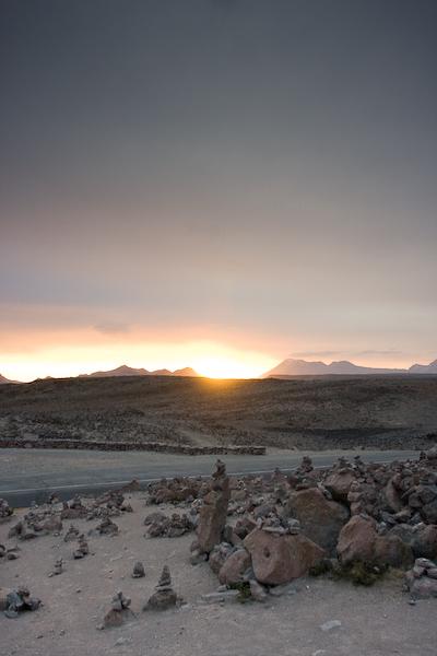 Sunset at the high pass