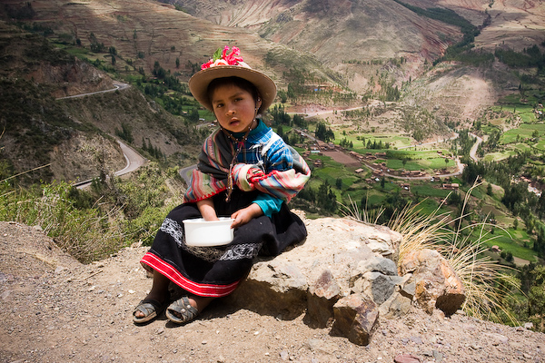 This young girl was at the entrance to the Pisac ruins