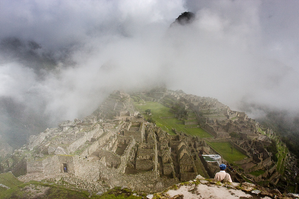Machu Picchu emerges from the mist