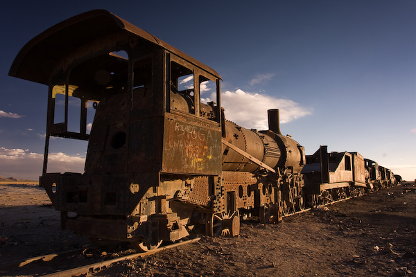 One of the many rusting engines