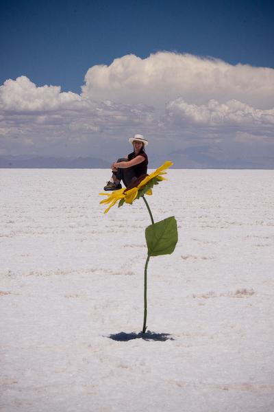 Keryn on a flower