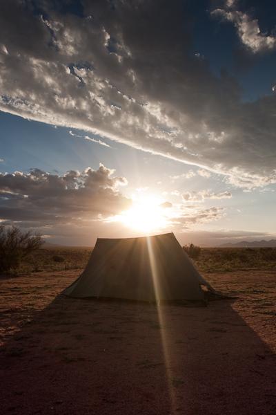 Camping at Talampaya