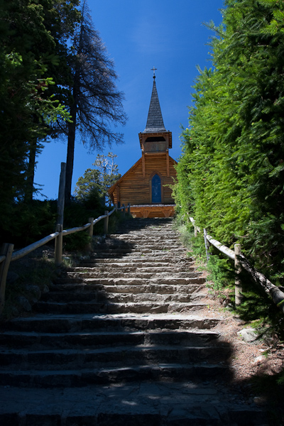 The stairs to the church