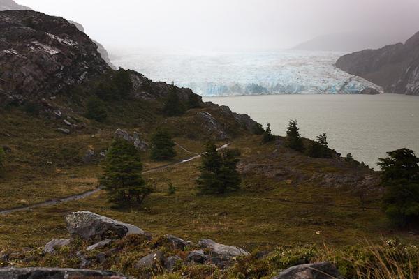 The Grey Glacier viewpoint