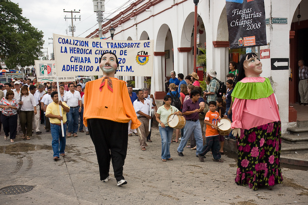 The parade in Chiapa de Corzo