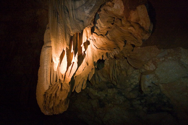 One of the early cave formations.