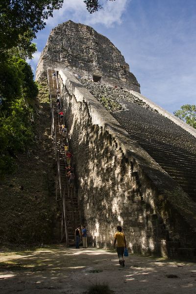 The stairs up Temple 5.