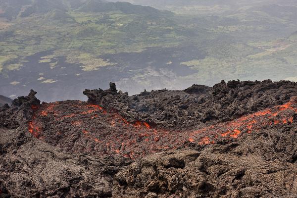 The lava flow.